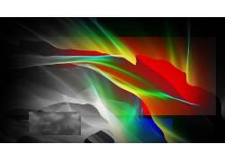 数字艺术,抽象,几何,华美,长方形,波浪线353574