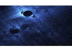 数字艺术,极简主义,蓝色,抽象,质地,模式178400