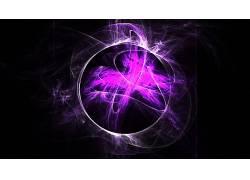黑色,紫色,圈,抽象,氖,数字艺术22287