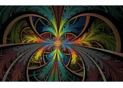 数字艺术,抽象,分形,镜像,华美343665