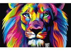 狮子,华美,抽象244785