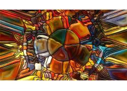 数字艺术,抽象,华美,CGI,圈,玻璃,线,破碎266449