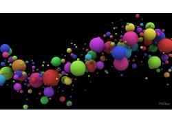 黑色,黑色的背景,抽象,球,华美,数字艺术,艺术品,简单的背景20940