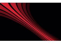 黑色的背景,数字艺术,简单,红,线,极简主义,抽象,简单的背景57611图片