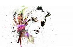 绘画,抽象,面对,简单的背景,妇女10617图片