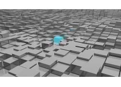 数字艺术,立方体,抽象,选择性着色300