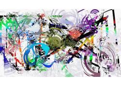 绘画,艺术品,抽象,油漆飞溅,华美,摩托车,圈,线,白色背景338611