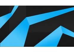 极简主义,蓝色,抽象263956