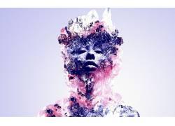 贾斯汀马勒,抽象,数字艺术,面对,水晶64291