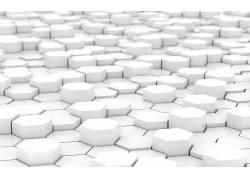 白色,简单,六边形,抽象,数字艺术196
