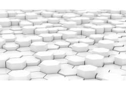 白色,简单,六边形,抽象,数字艺术204486