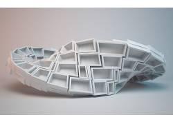 数字艺术,给予,3D,简单的背景,莫比乌斯地带,阴影,立方体,长方形,