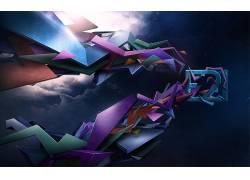 数字艺术,抽象,形状53013