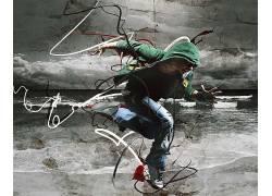 数字艺术,舞蹈家,男人,抽象,艺术品6545