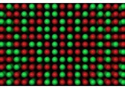 数字艺术,抽象,极简主义,黑色的背景,点,球,绿色,红,模糊311989