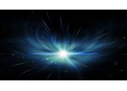 空间,明星,黑色的背景,数字艺术,超新星,抽象,蓝色,给予,宇宙,星
