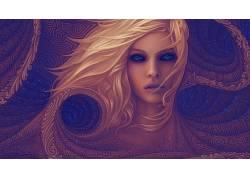 迷幻,抽象,妇女,分形650144