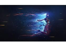 艺术品,抽象,妇女,数字艺术,科幻小说,机器人,神圣的几何107471