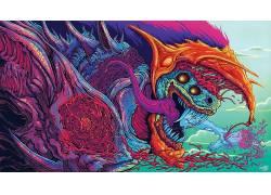 迷幻,抽象,生物,迷幻,hypebeast650147