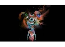 迷幻,抽象,眼睛650132