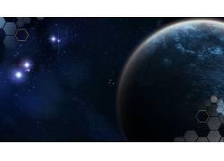 空间,行星,抽象,蓝色,太空艺术,数字艺术71760