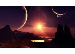 空间,行星,抽象333164