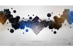 数字艺术,Photoshop中,抽象,三角形164188
