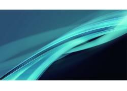数字艺术,抽象,波形,简单,极简主义,形状,蓝色,波浪线32878