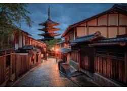 摄影,建筑,建造,抽象,街,亚洲建筑,路径,屋,路灯,灯火,树木384450