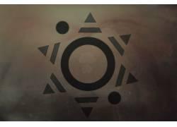 模式,抽象,几何,圈,三角形,艺术品,数字艺术,30STM,三十秒到火星1