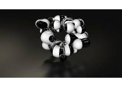 数字艺术,抽象,白色,黑色,简单的背景4545图片