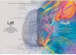 脑,分裂,选择性着色,音符,数字艺术,数字,文本,梅赛德斯 - 奔驰,