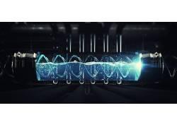 脱氧核糖核酸,抽象,科幻小说,Lacza,机,液体,管道,数字艺术,厂,3D图片