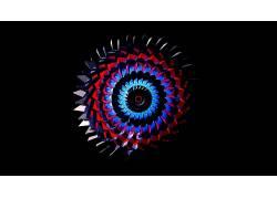 数字艺术,抽象,简单的背景,圈,黑色的背景,极简主义,华美425580