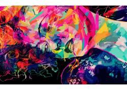 艺术品,华美,抽象,亚历山德罗Pautasso342243
