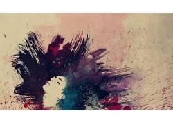 艺术品,妇女,抽象,数字艺术,油漆飞溅,面对,闭着眼睛40300