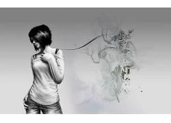 艺术品,妇女,抽象31632