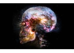 空间,宇宙,抽象,脑,头骨70159