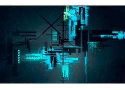 数字艺术,抽象,线,CGI,氖,泛着,技术,几何206081