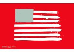 旗,艺术品,抽象,红色背景21723