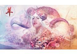 迷幻,妇女,抽象,迷幻650141