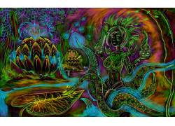 迷幻,妇女,抽象,迷幻650142