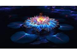 迷幻,抽象,花,幻想艺术650143