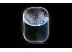 窗口,玻璃,抽象,地球,空间,数字艺术,太空艺术,行星13096