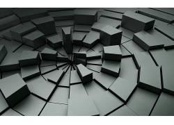 数字艺术,抽象,质地,广场,几何,对称,3D,3D块,CGI314485