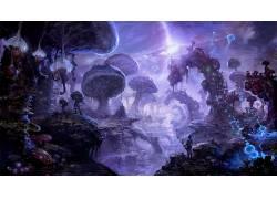 迷幻,抽象,蘑菇,蘑菇,幻想艺术650182
