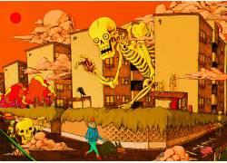 迷幻,抽象,骨架,头骨650160