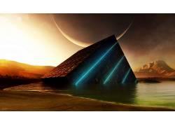 立方体,抽象,行星,科幻小说189816图片