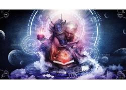 迷幻,抽象,龙,精神,奉,空间,行星,卡梅伦格雷,迷幻650173