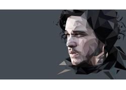 权力的游戏,Jon Snow,抽象,电视剧,矢量图形,低聚541005